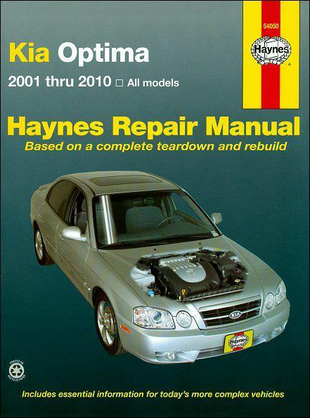 Kia Optima Petrol 2001 - 2010 Haynes Owners Service & Repair Manual (USA)