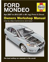 Ford Mondeo Petrol & Diesel 2007 - 2012 Haynes Owners Service & Repair Manual