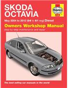 Skoda Octavia Diesel 2004 - 2012 Haynes Owners Service & Repair Manual - Front Cover