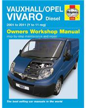 Vauxhall / Opel Vivaro Diesel 2001 - 2011 Haynes Owners Service & Repair Manual