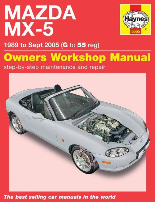 Mazda MX-5 1989 - 2005 Haynes Owners Service and Repair Manual - Front Cover