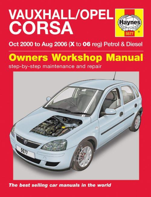 Vauxhall/Opel Corsa (Holden Barina) 2000 - 2006 Haynes Owner's Workshop Manual