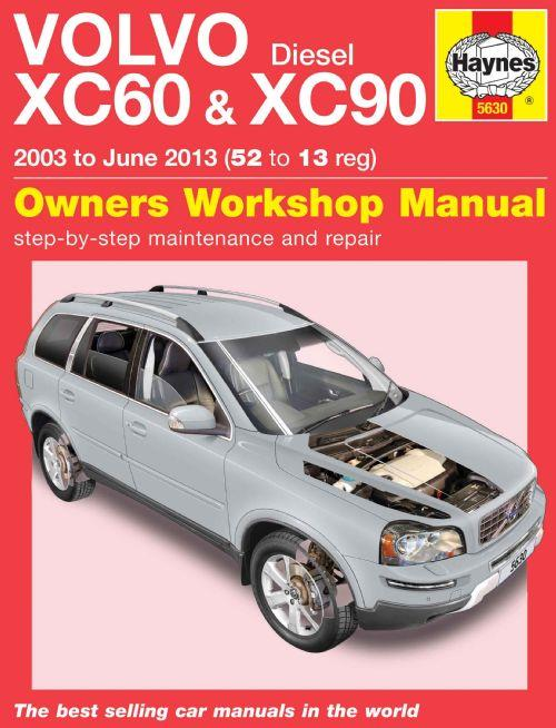 Volvo XC60 & XC90 Diesel 2003 - 2013 Haynes Owners Service & Repair Manual - Front Cover