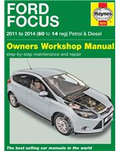 Ford Focus (Petrol & Diesel) 2011 - 2014 Haynes Owners Service & Repair Manual
