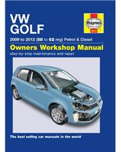 VW Golf (Petrol & Diesel) 2009 - 2012 Haynes Owners Service & Repair Manual