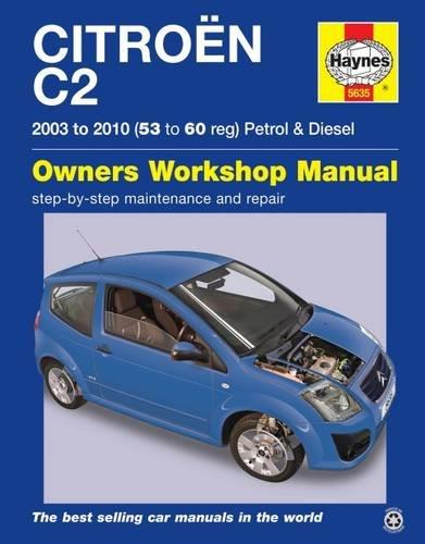 Citroen C2 Petrol & Diesel 2003 - 2010 Haynes Owners Service & Repair Manual - Front Cover