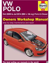 VW Polo Petrol & Diesel 2009 - 2014 Haynes Owners Service & Repair Manual