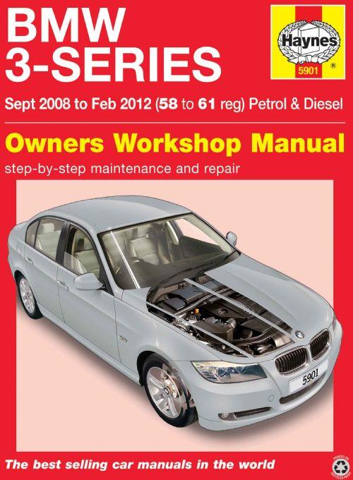 BMW 3-Series 2008 - 2012 Haynes Owners Service & Repair Manual - Front Cover