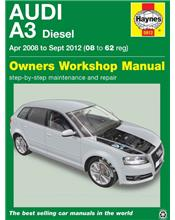 Audi A3 (Diesel) 2008 - 2012 Haynes Owners Service & Repair Manual