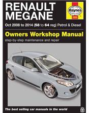 Renault Megane Petrol & Diesel 2008 - 2014 Haynes Owners Service & Repair Manual