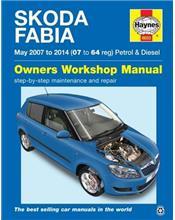 Skoda Fabia Petrol & Diesel 2007 - 2014 Haynes Owners Service & Repair Manual