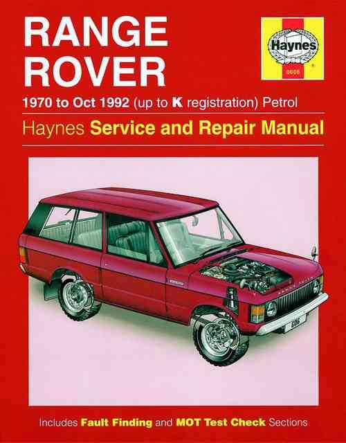 Range Rover V8 1970 - 1992 Haynes Owners Service & Repair Manual - Front Cover