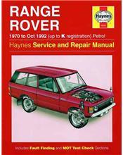 Range Rover V8 (Petrol) 1970 - 1992 Haynes Owners Service & Repair Manual