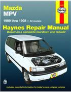 Mazda MPV 1989 - 1998 Haynes Owners Service & Repair Manual - Front Cover