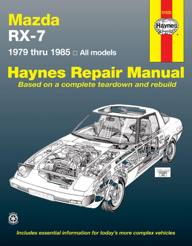 Mazda RX-7 1979 - 1985 Haynes Owners Service & Repair Manual