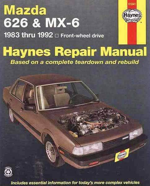 Mazda 626 & MX6 FWD 1983 - 1992 Haynes Owners Service & Repair Manual