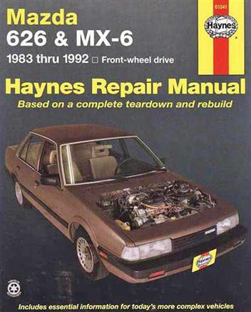 Mazda 626 & MX6 FWD 1983 - 1992 Haynes Owners Service & Repair Manual - Front Cover