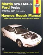 Mazda 626, MX-6 & Ford Probe 1993 - 2001 Haynes Owners Service & Repair Manual - Front Cover