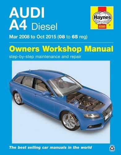 Audi A4 Diesel 2008 - 2015 Haynes Owners Service & Repair Manual - Front Cover