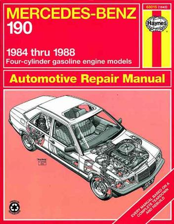 Mercedes-Benz 190 (Petrol) 1984 - 1988 Haynes Owners Service & Repair Manual - Front Cover