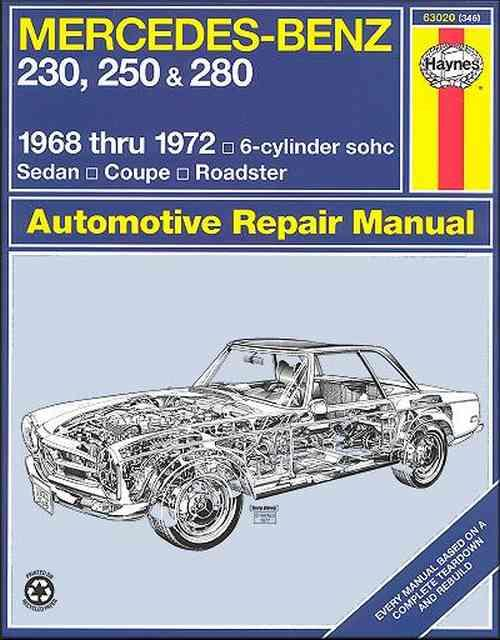 Mercedes-Benz 230, 250 & 280 1968 - 1972 Haynes Owners Service & Repair Manual - Front Cover