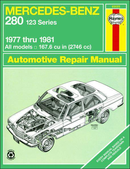 Mercedes-Benz 280 (123 Series) 1977 - 1981 Haynes Owners Service & Repair Manual - Front Cover