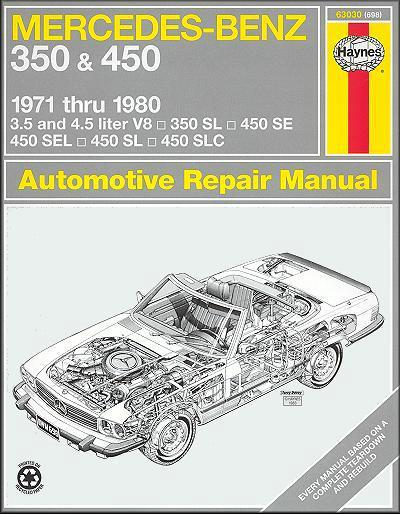 Mercedes Benz 350 & 450 1971 - 1980 Haynes Owners Service & Repair Manual - Front Cover