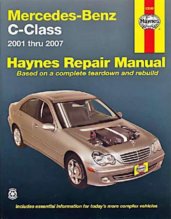 Mercedes Benz C-Class (W203) 2001 - 2007 Haynes Owners Service & Repair Manual - Front Cover