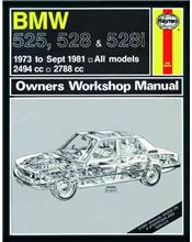 BMW 525, 528 & 528i (Petrol) 1973 - 1981 Haynes Owners Service & Repair Manual