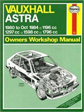Vauxhall Astra 1980 - 1984 Haynes Owner's Workshop Manual - Front Cover