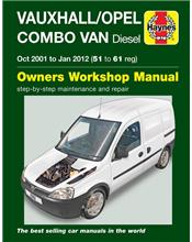 Vauxhall / Opel Combo Van (Diesel) 2001 - 2012 Owners Service & Repair Manual