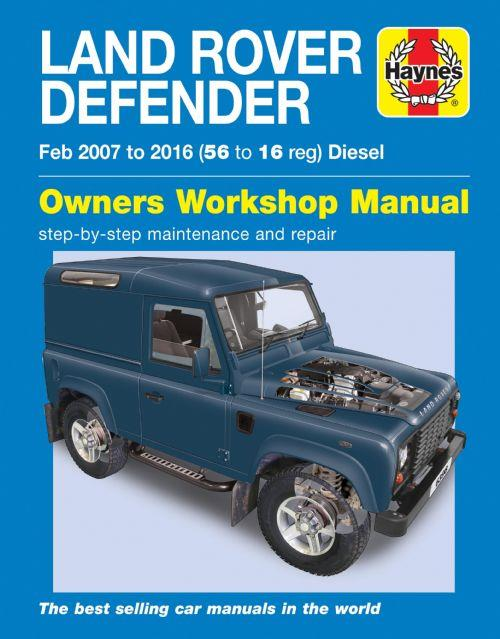 Land Rover Defender Diesel 2007 - 2016 Haynes Owners Service & Repair Manual - Front Cover