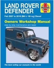 Land Rover Defender Diesel 2007 - 2016 Haynes Owners Service & Repair Manual