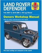 Land Rover Defender (Diesel) 2007 - 2016 Haynes Owners Service & Repair Manual