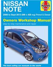 Nissan Note Petrol & Diesel 2006 - 2013 Haynes Owners Service & Repair Manual