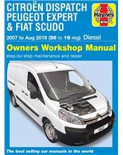 Citroen Dispatch, Peugeot Expert & FIAT Scudo Diesel 2007 - 2016