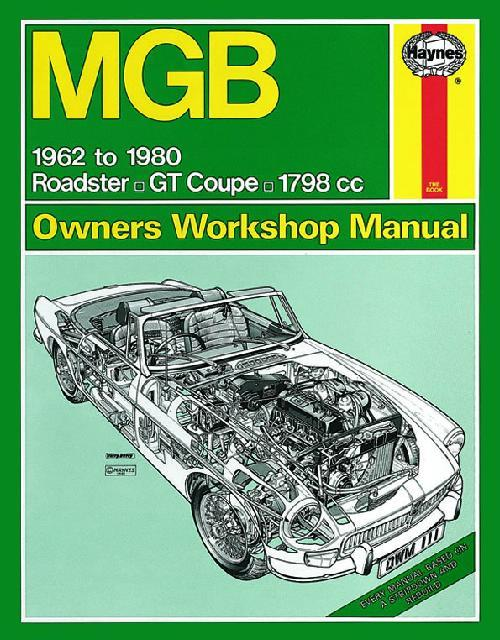 MGB & GT (1800) 1962 - 1980 Haynes Owners Service & Repair Manual - Front Cover