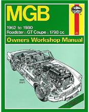 MGB & GT (1800) 1962 - 1980 Haynes Owners Service & Repair Manual