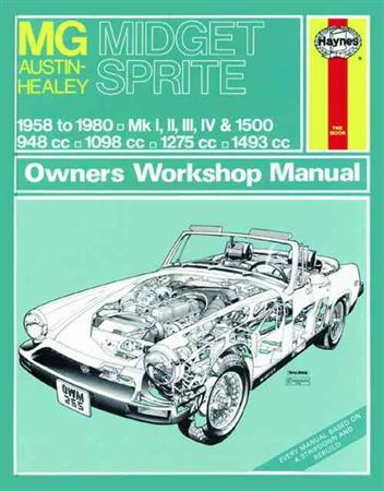 MG Midget & Austin-Healey Sprite 1958-1980 Haynes Owners Service & Repair Manual - Front Cover