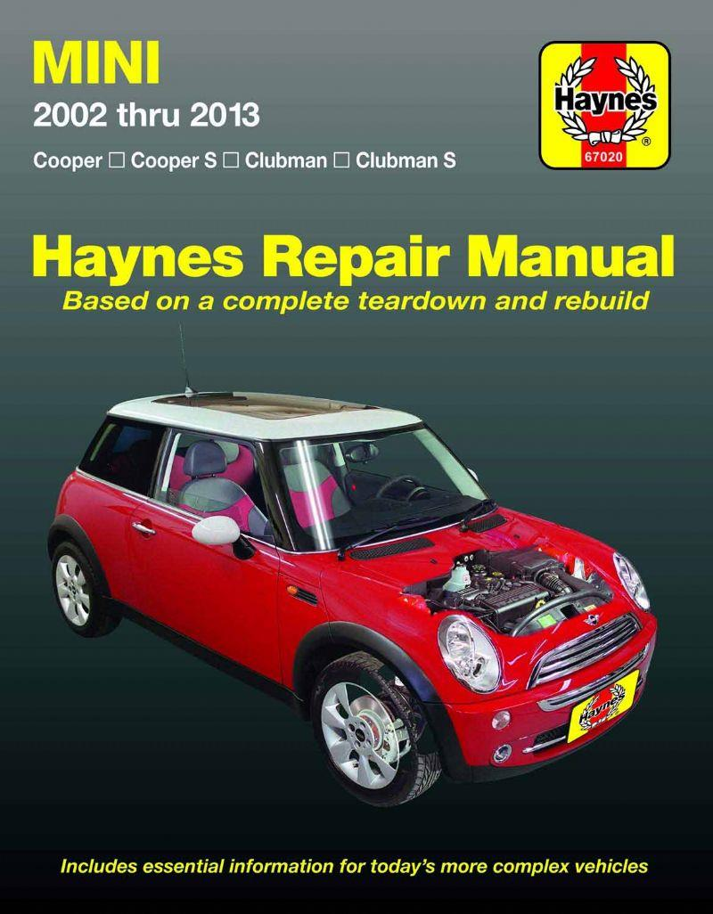 Mini Cooper & Cooper S 2002 - 2011 Haynes Owners Service & Repair Manual