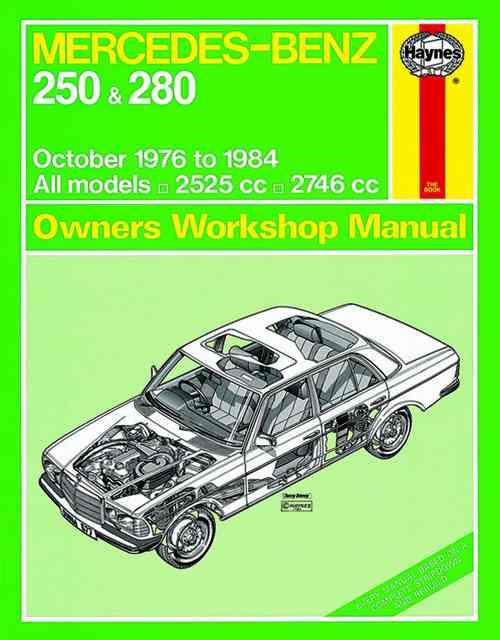 Mercedes Benz 250 & 280 W123 Series 1976 - 1984 - Front Cover