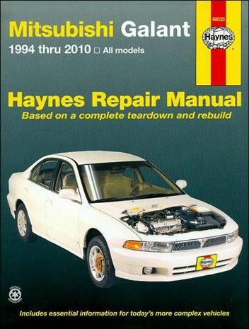Mitsubishi Galant 1994 - 2010 Haynes Owners Service & Repair Manual - Front Cover