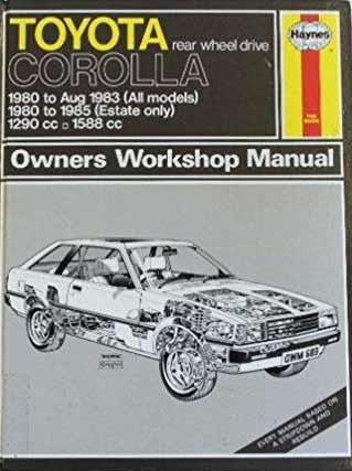 Toyota Corolla 1980 - 1985 Haynes Owner's Workshop Manual - Front Cover