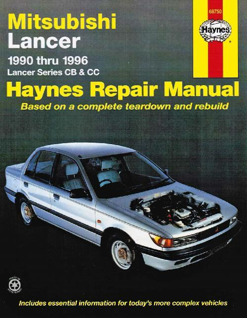 Mitsubishi Lancer CB & CC 1990 - 1996 Haynes Owners Service & Repair Manual - Front Cover