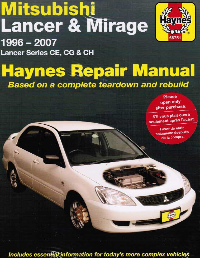 Mitsubishi Lancer & Mirage CE, CG & CH Series 1996 - 2007 - Front Cover