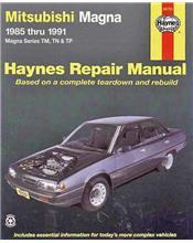 Mitsubishi Magna TM TN & TP 1985 - 1991 Haynes Owners Service & Repair Manual