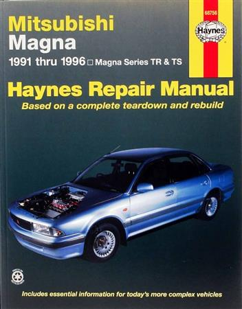 Mitsubishi Magna TR & TS 1991 - 1996 Haynes Owners Service & Repair Manual - Front Cover