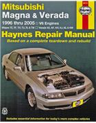 Mitsubishi Magna & Verada 1996 - 2005 Haynes Owners Service & Repair Manual