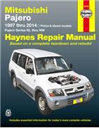 Mitsubishi Pajero Series NL to NT Petrol & Diesel 1997 - 2014 Australian Models - Front Cover