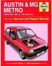 Austin / MG Metro (Petrol) 1980 - 1990 Haynes Owners Service & Repair Manual